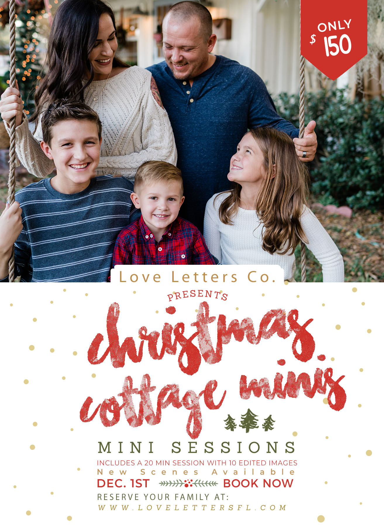 Christmas Mini Sessions.2019 Christmas Cottage Mini Sessions Love Letters Co